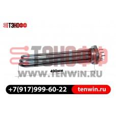 ТЭН блок 15 кВт длина 490мм / фланец G2 1/2 (75мм)